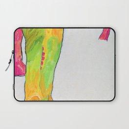 12,000pixel-500dpi - Egon Schiele - Male Nude, Propping Himself Up - Digital Remastered Edition Laptop Sleeve