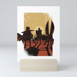 Schere Stein Papier Mini Art Print