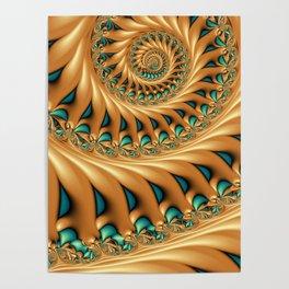 Fractal Splendor, Modern 3D Art Poster