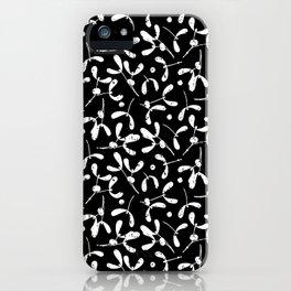 Rustic Mistletoe B-W iPhone Case