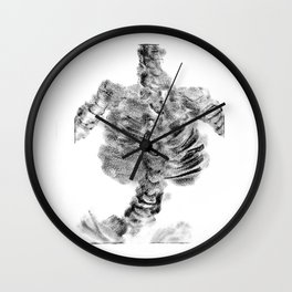 Monoprint Skeleton Wall Clock