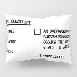 Writer's Checklist Pillow Sham