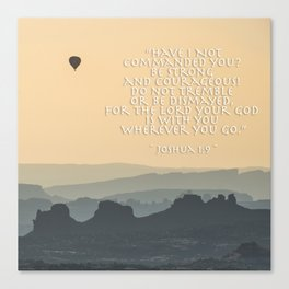 Be Strong and Courageous - Joshua 1 Verse 9 - Square Format Canvas Print