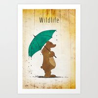 wildlife Art Prints featuring Wildlife by AhaC