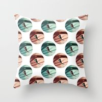 lizard Throw Pillows featuring Lizard by AhaC