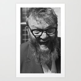 weird. beard. Art Print