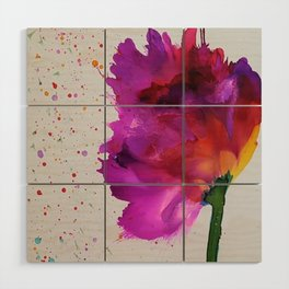 Burst of Color Wood Wall Art
