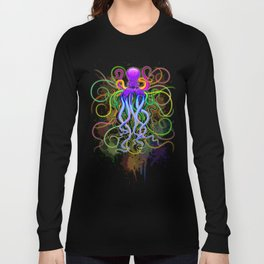 Octopus Psychedelic Luminescence Long Sleeve T-shirt