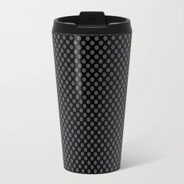 Black and Dark Shadow Polka Dots Travel Mug