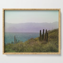 Saguaro Cactus by the Sea Serving Tray