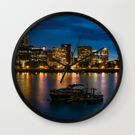 Still Night in Portland Wall Clock