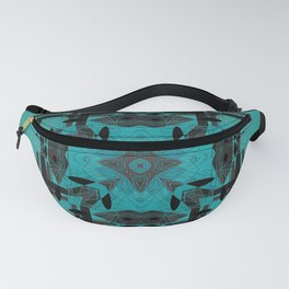 Turquoise Ornate Abstract Design Fanny Pack