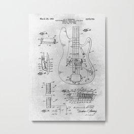 Electric Guitar - Electromagnetic pickup Metal Print