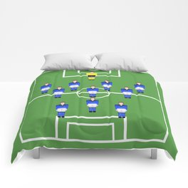 Football Soccer sports team in blue Comforters