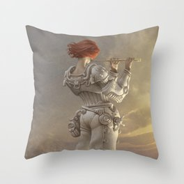 Mars Sonata Throw Pillow