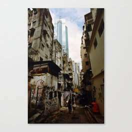 Hong Kong Alley Canvas Print