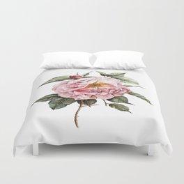 Wilting Pink Rose Watercolor Duvet Cover