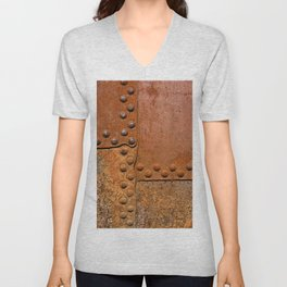 Rusty metal wall surface Unisex V-Neck
