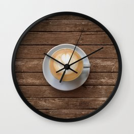 Coffee & Wood Wall Clock