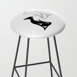 Greyhound sitting Bar Stool