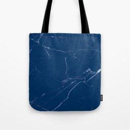 royal marine blue marble look Tote Bag