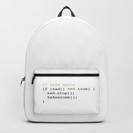 Life Motto Backpack