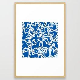 otomi blue Framed Art Print
