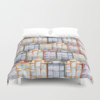 amsterdam Duvet Covers featuring  Amsterdam by Julia Badeeva