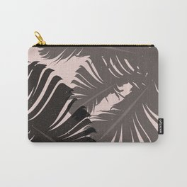 Tropical Leaf Silhouette in Pink Palette Carry-All Pouch