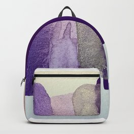 Watercolor Purple Abstract Backpack