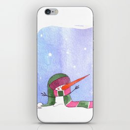 Snowmn christmas iPhone Skin
