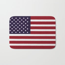 American flag with painterly treatment Bath Mat