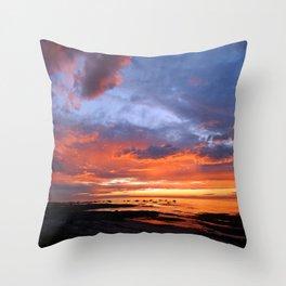 Stunning Seaside Sunset Throw Pillow