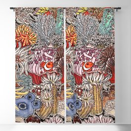 Clown fish and Sea anemones Blackout Curtain