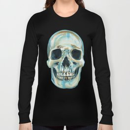 Blue Skull Long Sleeve T-shirt