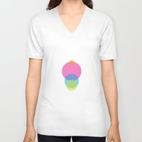 dots V-neck T-shirts featuring DOTS by Volkan Dalyan