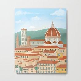 Florence city Metal Print