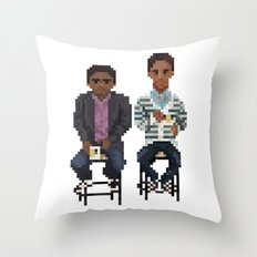 Troy And Abed In the Morning Throw Pillow