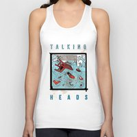 talking heads Tank Tops featuring Talking Heads Limited Edition Music Poster Print by Nick Howland