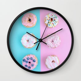 Sweet doughnuts Wall Clock