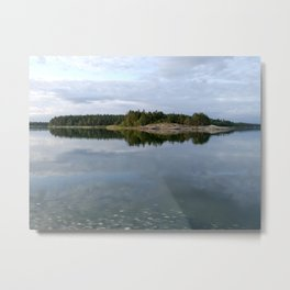 August morning in archipelago Metal Print