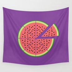 Watermelon Pizza Wall Tapestry