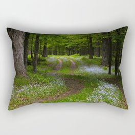Forget-me-not Trail Rectangular Pillow