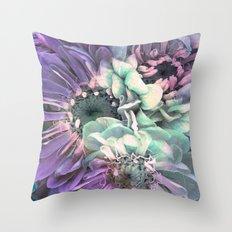 unique floral purple Throw Pillow
