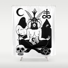 Baphomet and Executioner Shower Curtain