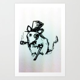 Scribble Mouse Art Print