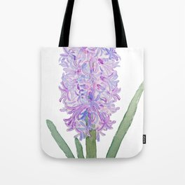 purple pink hyacinth watercolor Tote Bag