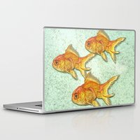 goldfish Laptop & iPad Skins featuring Goldfish by Mr and Mrs Quirynen