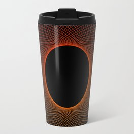 Tangerine Vortex Orange Travel Mug