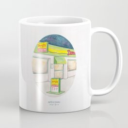 Haruki Murakami's After Dark Watercolor Illustration Coffee Mug